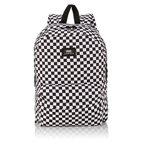 Vans black and white checkered backpack. M 5b1185fca31c337398b49860